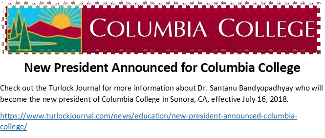 New President Announced for Columbia College